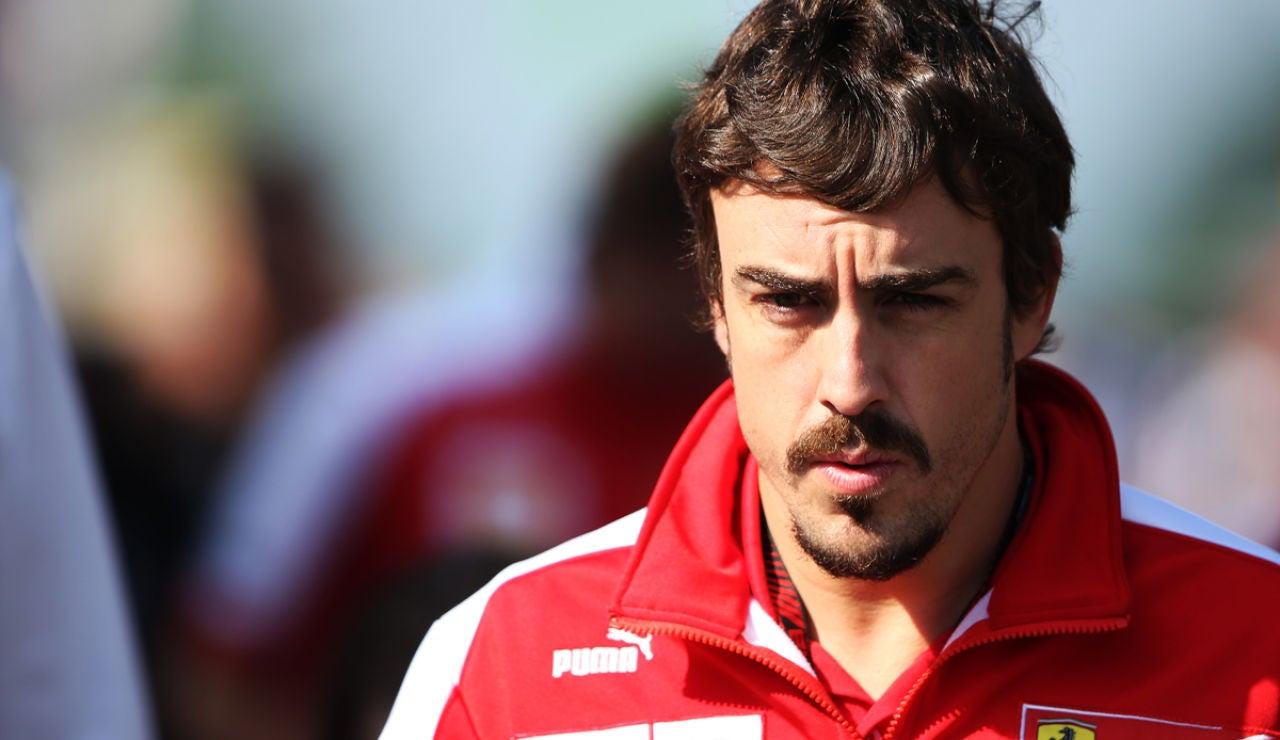 Fernando Alonso, con el sol de cara