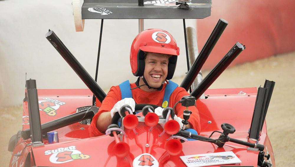 Vettel, de Super Mario