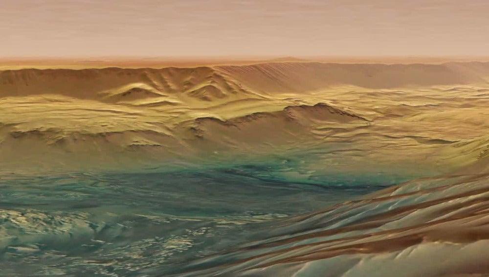 La sonda Mars Express capta las imágenes del cañón más grande del Sistema Solar