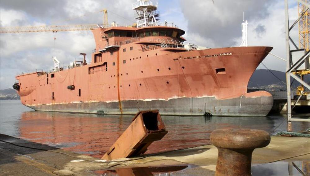 Vista del astillero vigués Vulcano