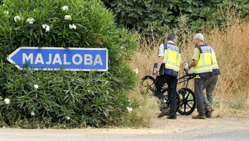 La Policía llega con el georadar a la finca de la Majaloba