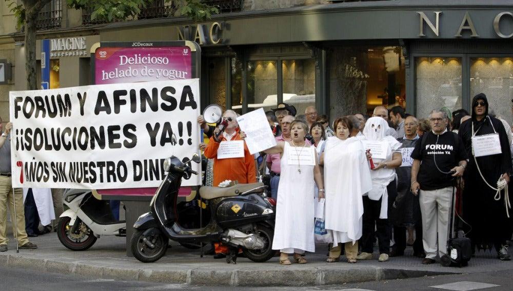 Protesta de afectados por Afinsa y Forum
