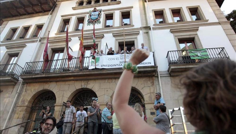 Protestas en Sestao