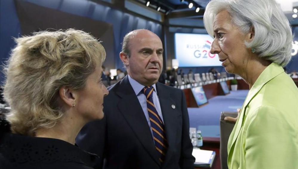 De Guindos, con Christine Lagarde