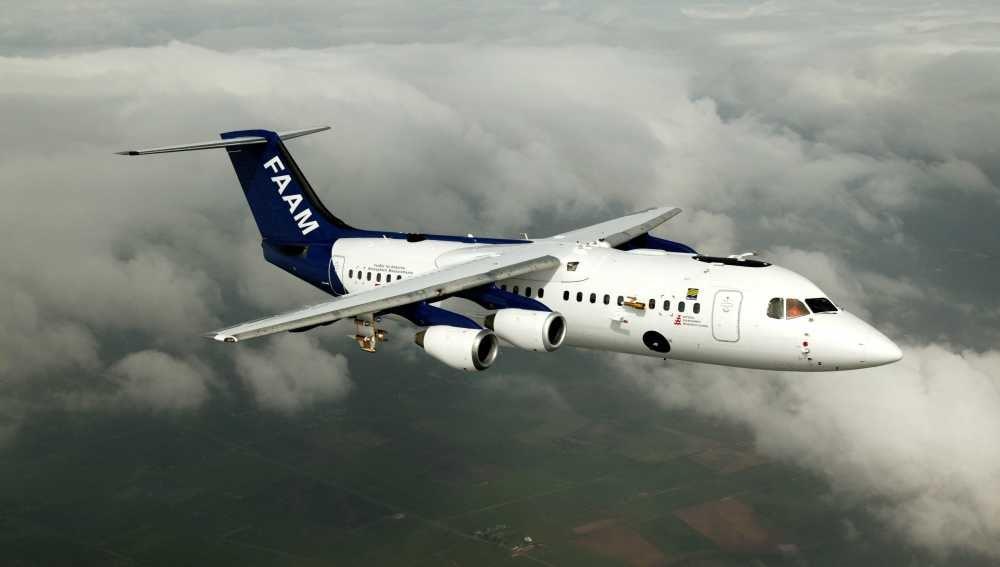 El avión británico FAAM BAe 146, con tecnología de última generación.