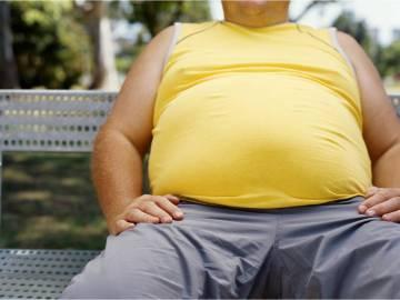 Padre obeso.