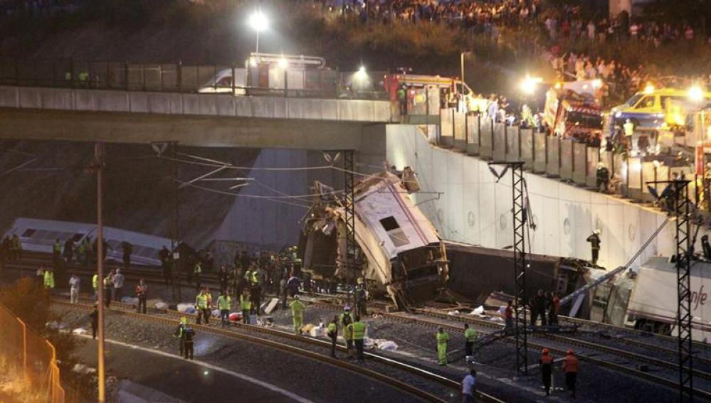 Accidente de tren cerca de Santiago de Compostela