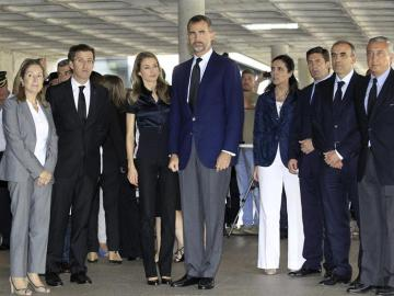 Los Príncipes de Asturias visitan a los heridos del accidente