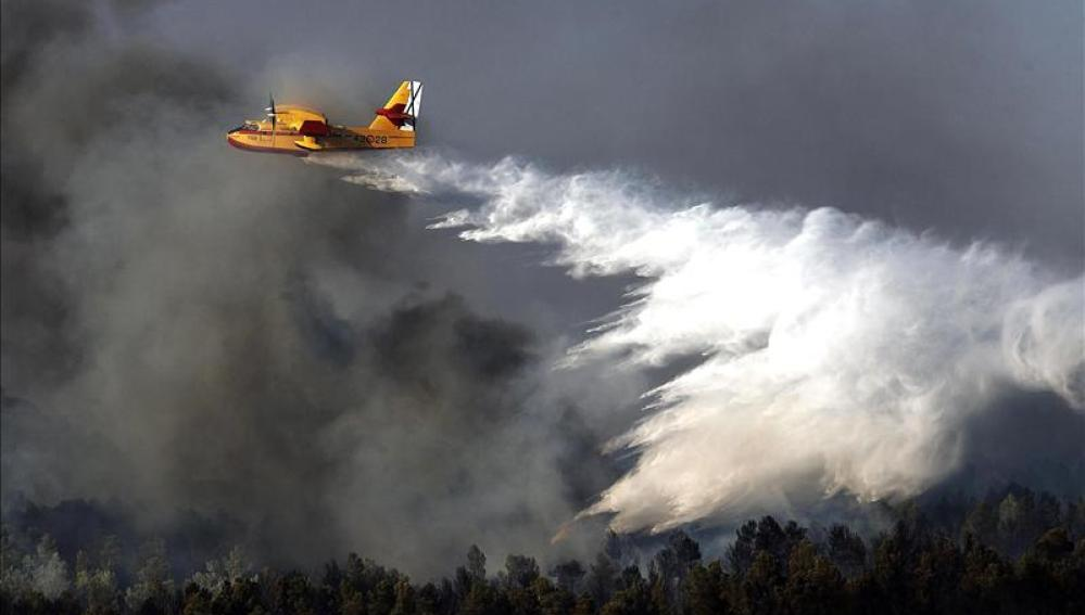 Incendio en Ayora