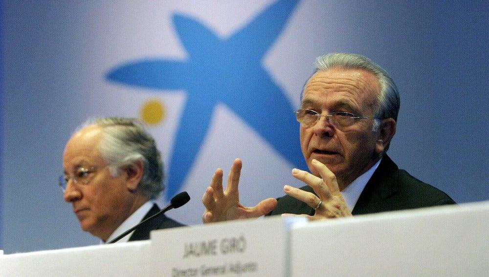 El presidente de CaixaBank, Isidre Fainé, y el consejero delegado, Juan M. Nin.