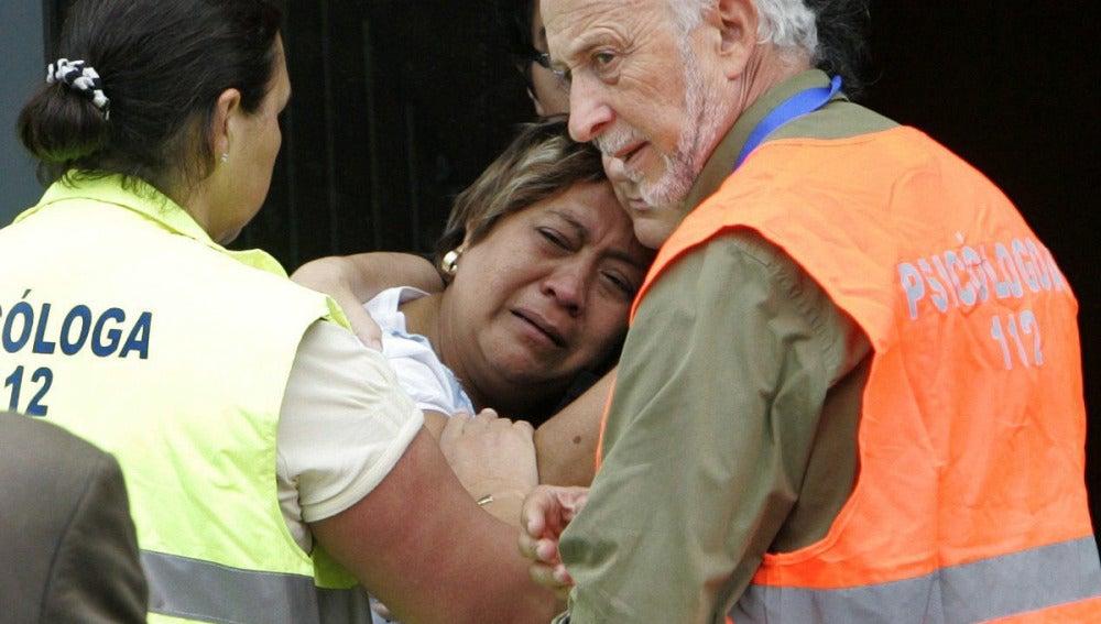 Familiares de las víctimas del accidente