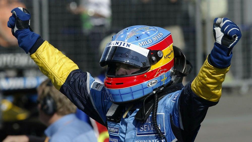 Alonso, exultante de alegría