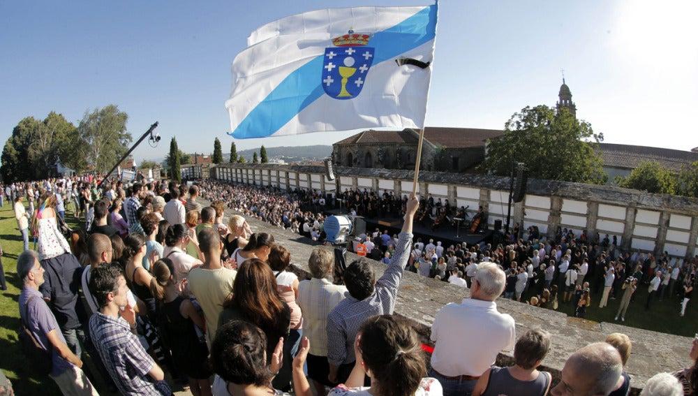 Homenaje civil a las víctimas en Santiago