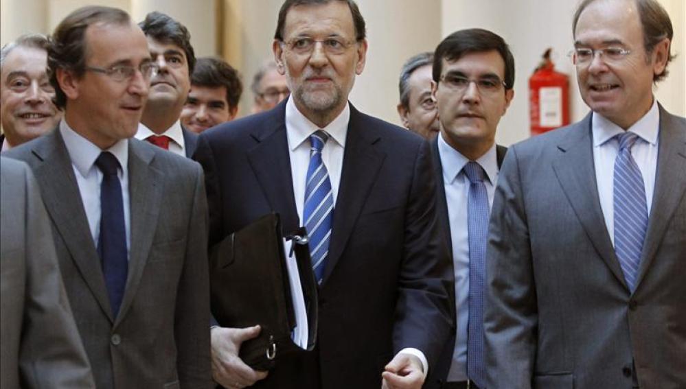Mariano Rajoy llega al Senado