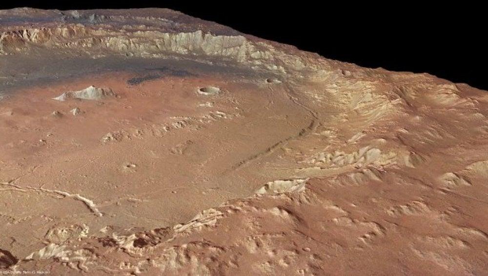 Restos de agua en Marte