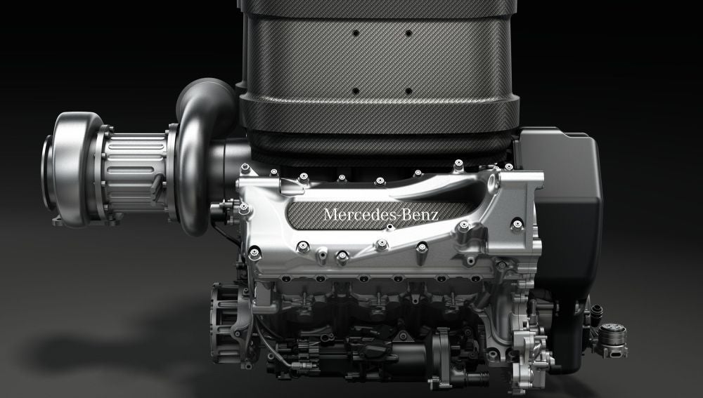 El nuevo motor V6 Turbo de Mercedes.