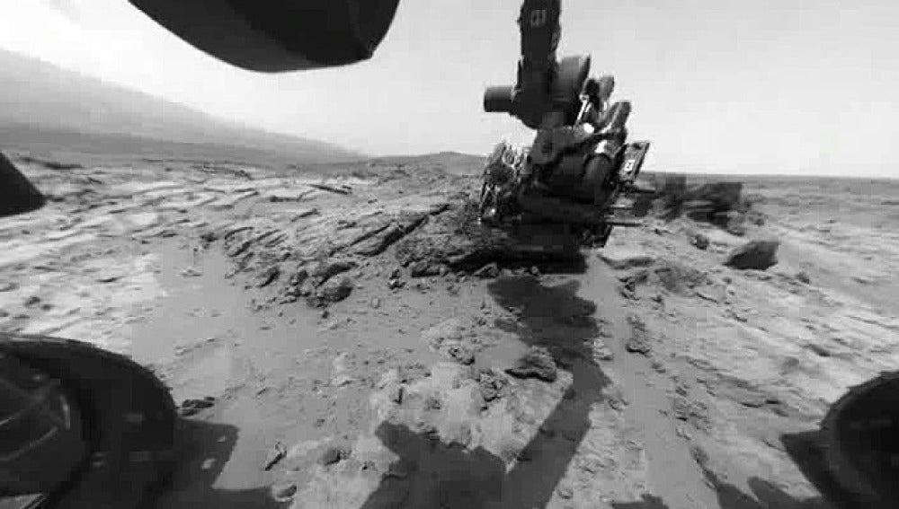 El Curiosity trabaja en Marte