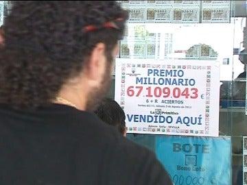 Premio récord para un ganador de la Primitiva en Sevilla