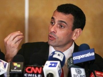 El líder opositor venezolano, Henrique Capriles