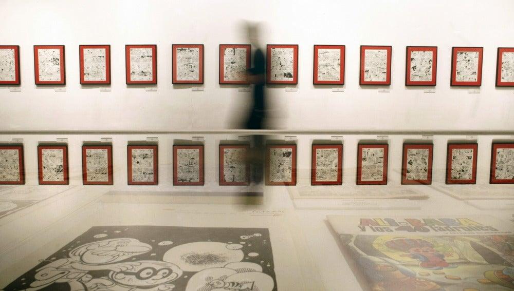 Exposición dedicada a Superlópez en el Salón del Cómic de A Coruña
