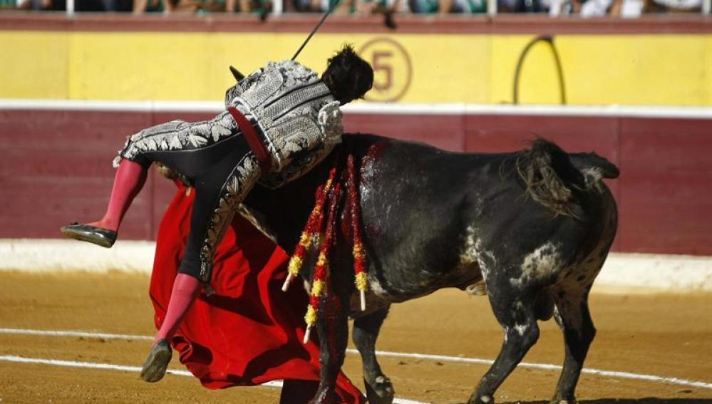 El torero Morante de la Puebla, herido de asta en Huesca
