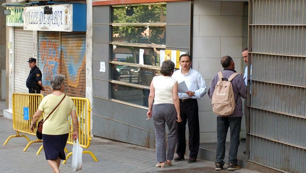 Exterior de una oficina de la Seguridad Social en Madrid