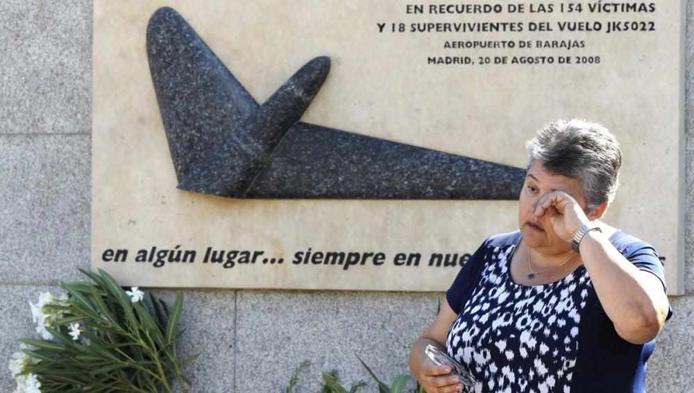 La presidenta de la Asociación de Afectados del Vuelo JK5022, Pilar Vera.