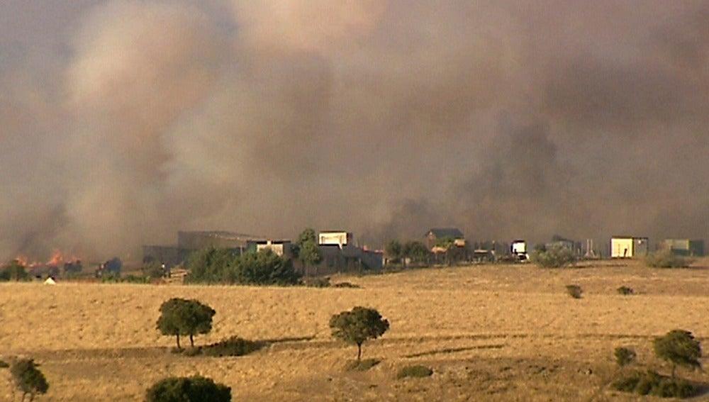 Incendio en la urbanización de Tres Cantos