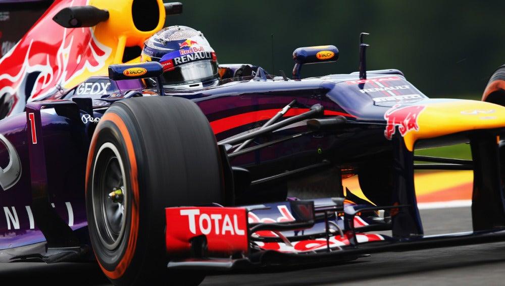 Vettel, de cerca
