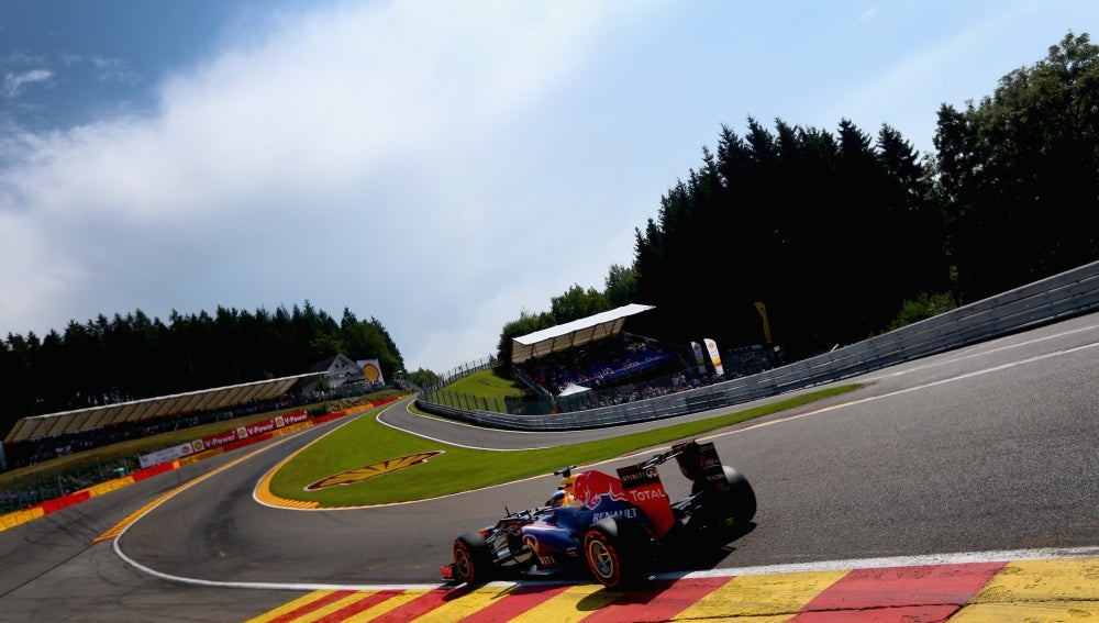 Vettel en Eau Rouge