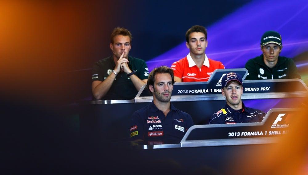 Rueda de prensa de la FIA en Bélgica