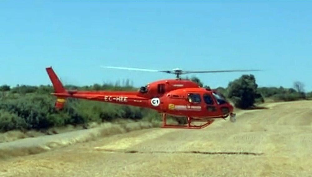 Helicóptero con cámara térmica