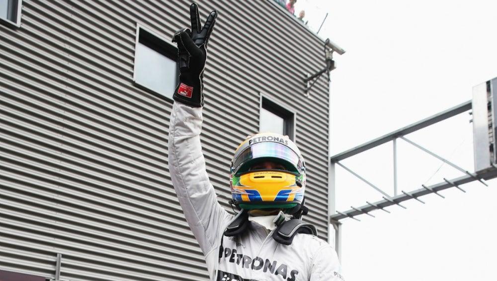 Lewis Hamilton, pole en Spa