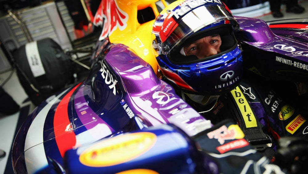 Webber, en el cockpit del RB9