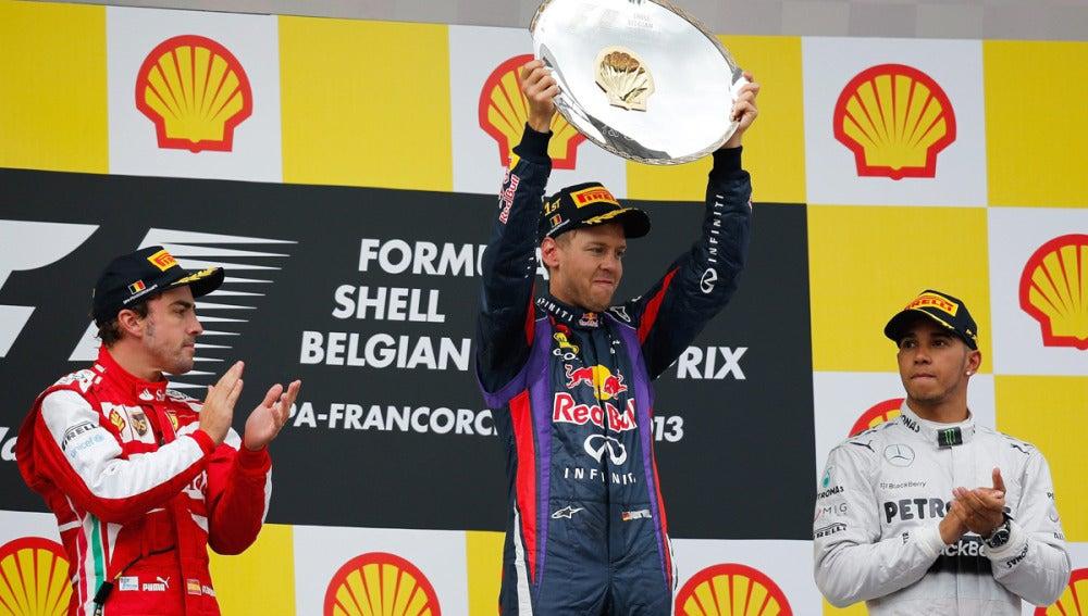 Los tres del podio del GP de Bélgica