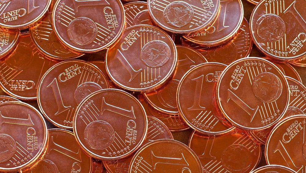 Monedas de un céntimo