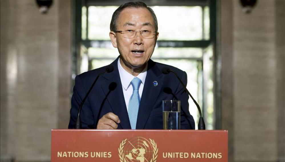 El secretario general de la ONU, Ban Ki-moon