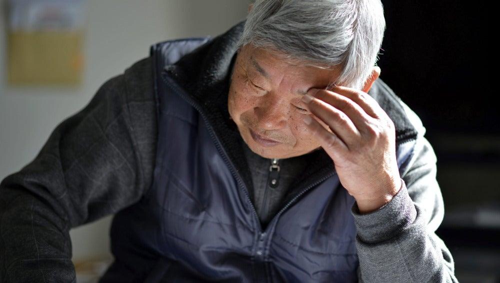 Un anciano en Japón