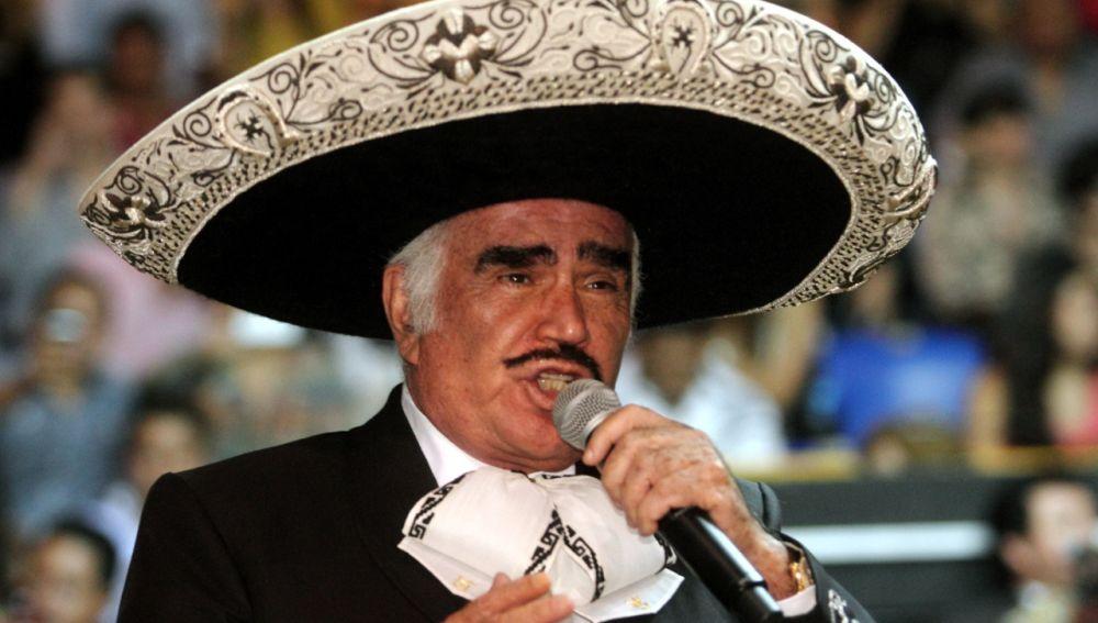El cantante Vicente Fernández