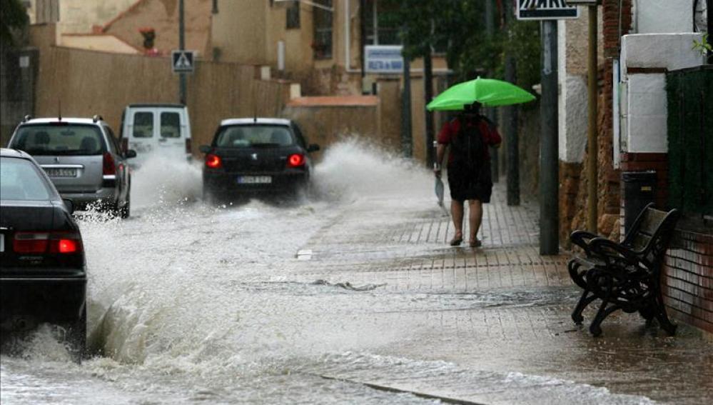 Intensas lluvias en Albacete.