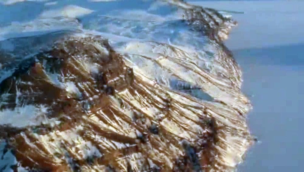 Descubren un cañón similar al del Colorado oculto bajo cientos de metros de hielo en Groenlandia