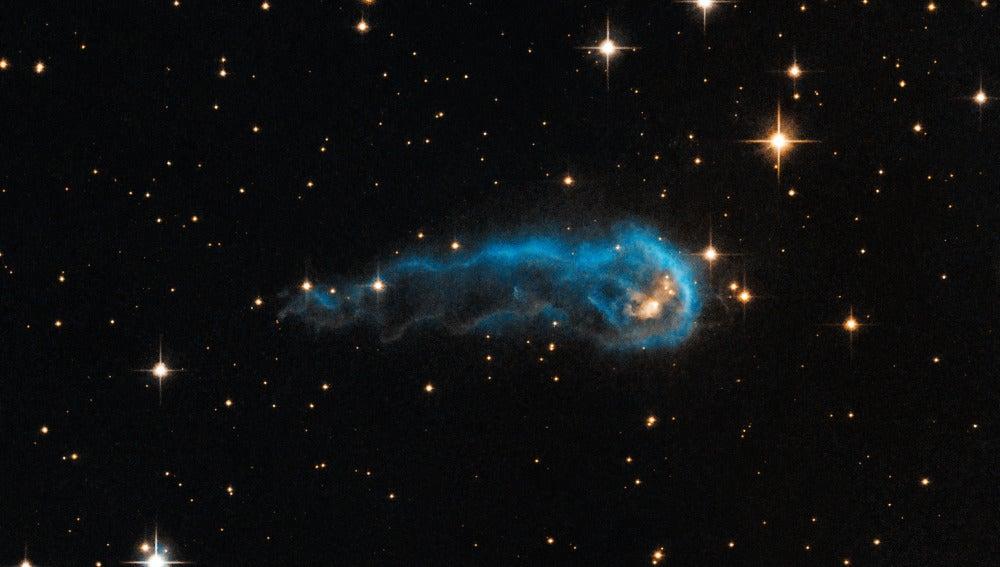 El telescopio espacial Hubble observa una 'oruga cósmica'