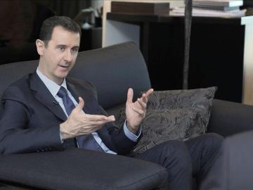Bachar al Asad durante una entrevista (Archivo)