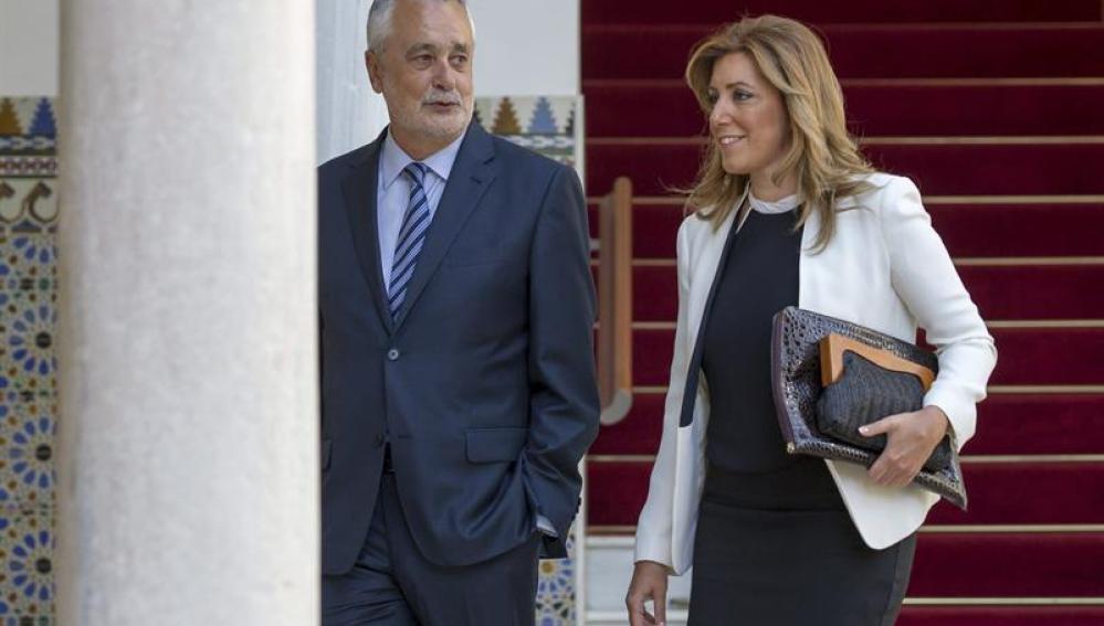 Susana Díaz y José Antonio Griñán