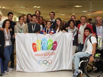 Integrantes de la delegación española que apoya Madrid 2020 en Buenos Aires
