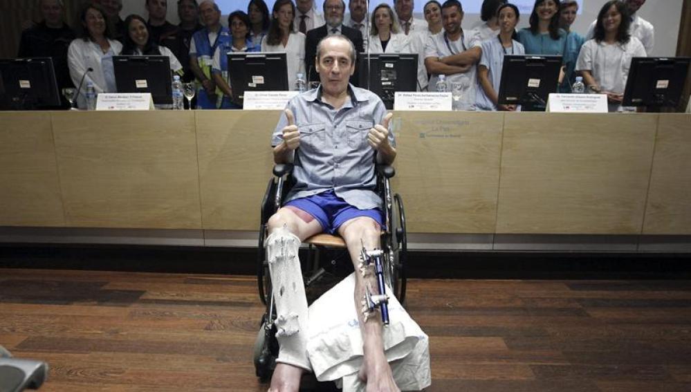 Salvador Rodríguez tras el reimplante