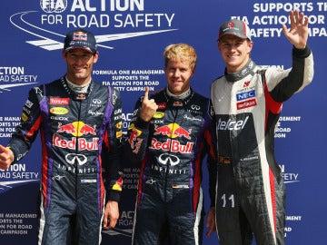 Vettel, pole en Monza, con Webber y Hulkenberg