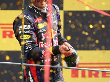 Webber, en el podio de Italia