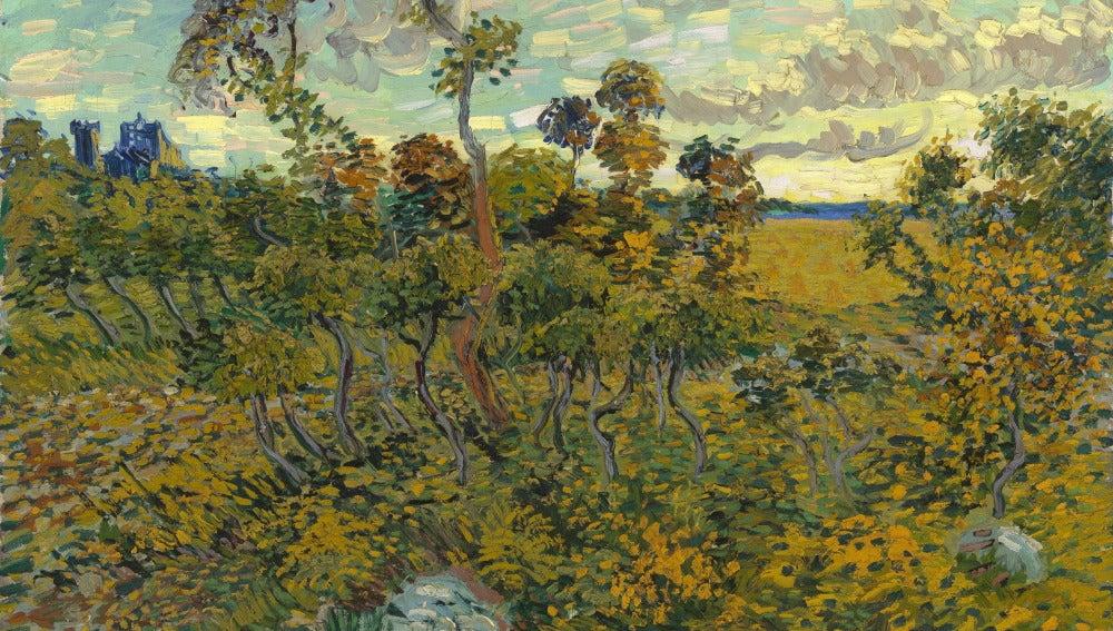 Puesta de Sol en Montmajour, de Van Gogh
