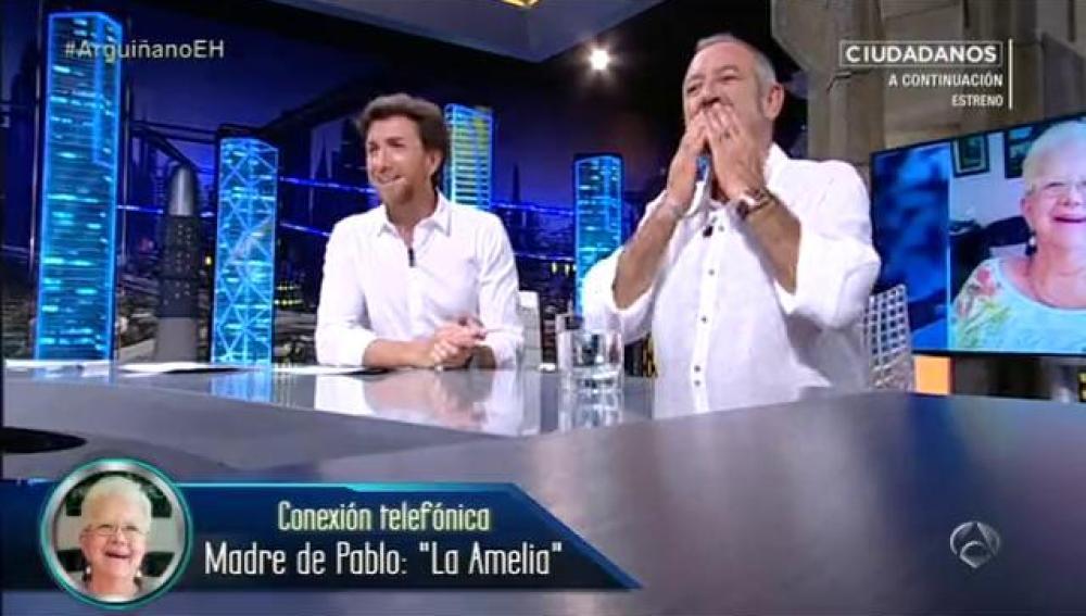 La Amelia habla con Karlos Arguiñano